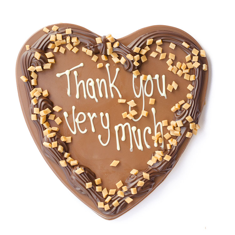 Thank you very much chocolade hart